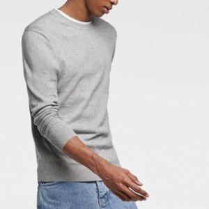 Zara light grey basic sweater